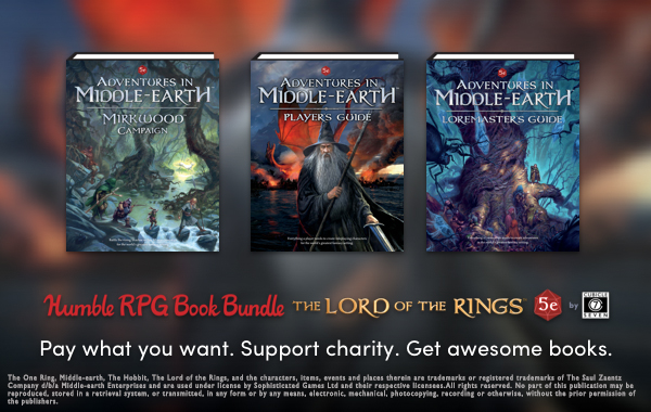 HUMBLE RPG BUNDLE: LORD OF THE RINGS 5E NOW LIVE!