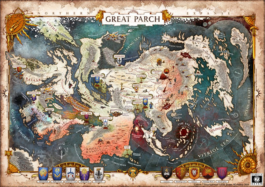 Age Of Sigmar Soulbound The Great Parch Map Reveal Cubicle 7