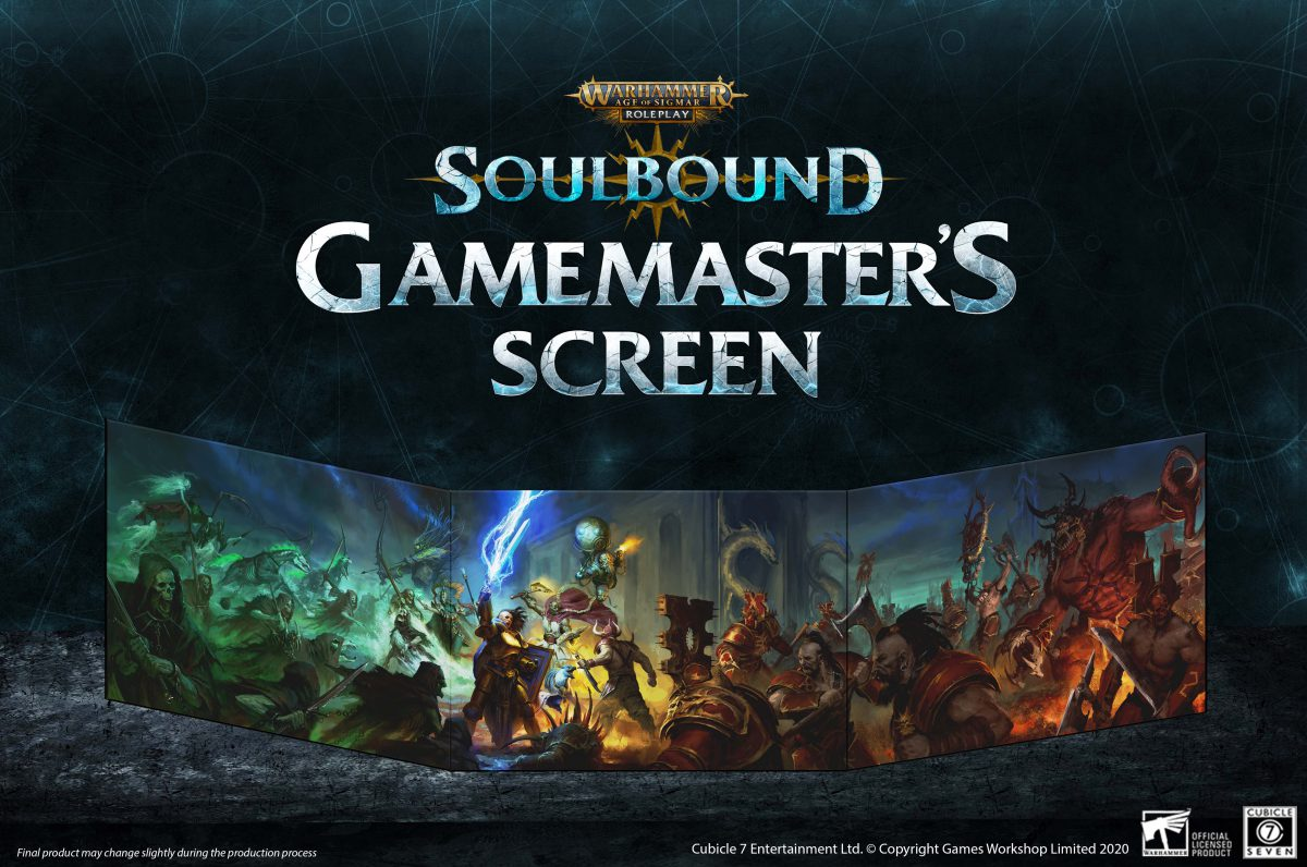 Age of Sigmar: Soulbound GM Screen PDF Out Now!