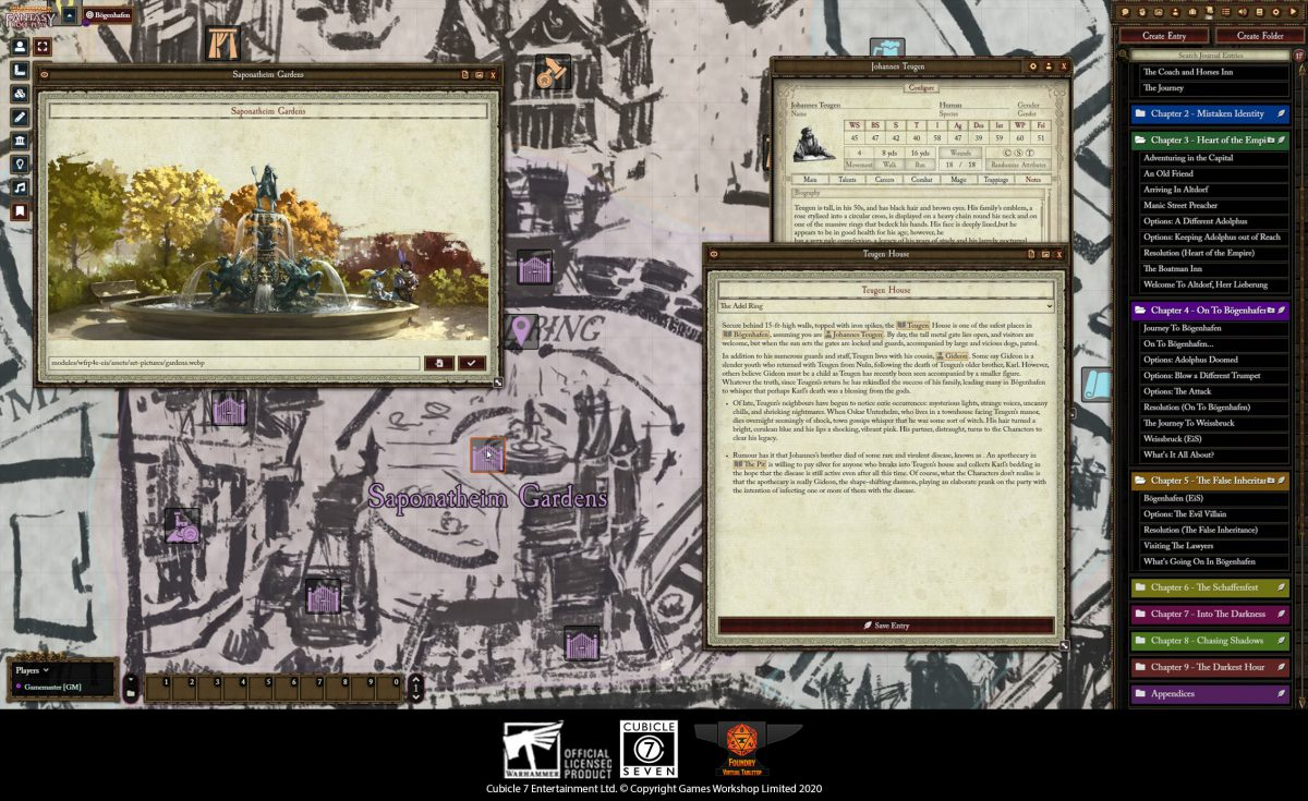 WFRP Enemy in Shadows Module now on Foundry VTT!